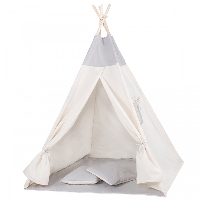 Детская палатка (вигвам) Springos Tipi XXL TIP10 White/Grey