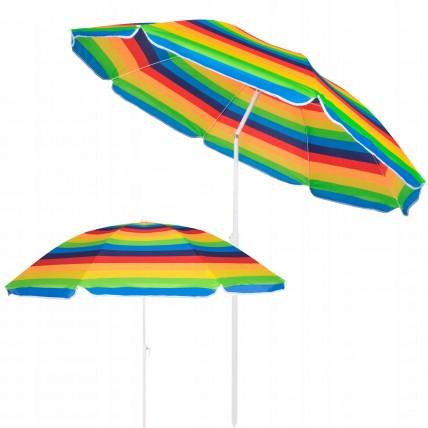 Пляжна парасолька з регульованою висотою та нахилом Springos 180 см BU0009
