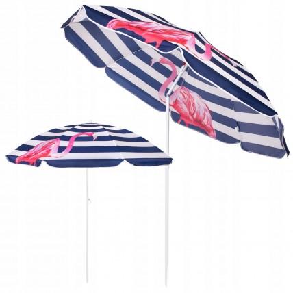 Пляжна парасолька з регульованою висотою та нахилом Springos 180 см BU0012