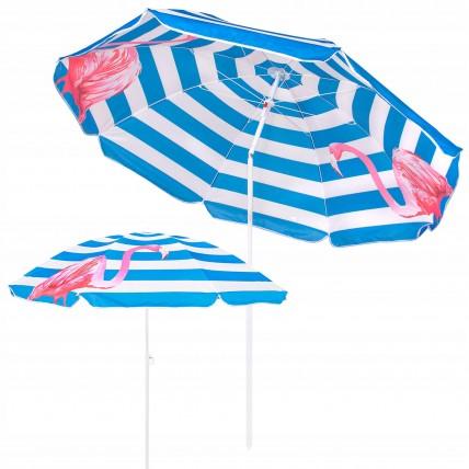 Пляжна парасолька з регульованою висотою та нахилом Springos 180 см BU0013