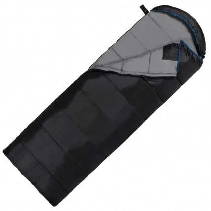 Спальний мішок (спальник) ковдра SportVida SV-CC0072 -3 ...+ 21°C R Black/Grey