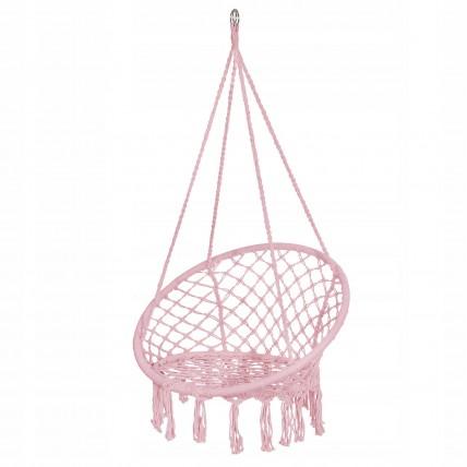 Підвісне крісло-гойдалка (плетене) Springos SPR0021 Pink