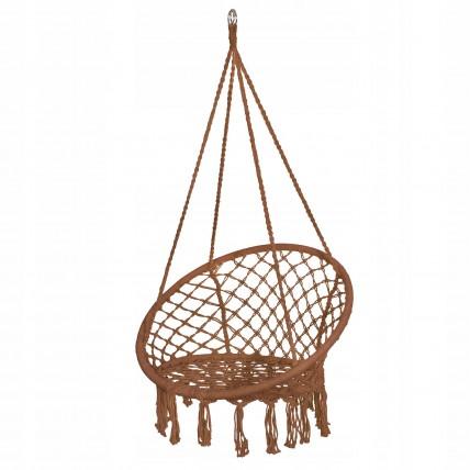 Підвісне крісло-гойдалка (плетене) Springos SPR0023 Braun