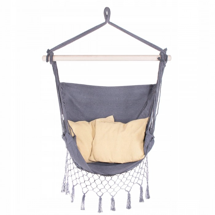 Кресло-гамак сидячий (бразильский) с подушками Springos 130 x 100 см HM012