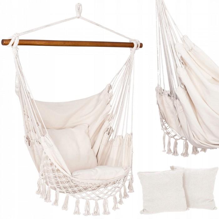 Кресло-гамак сидячий (бразильский) с подушками Springos 130 x 100 см HM022