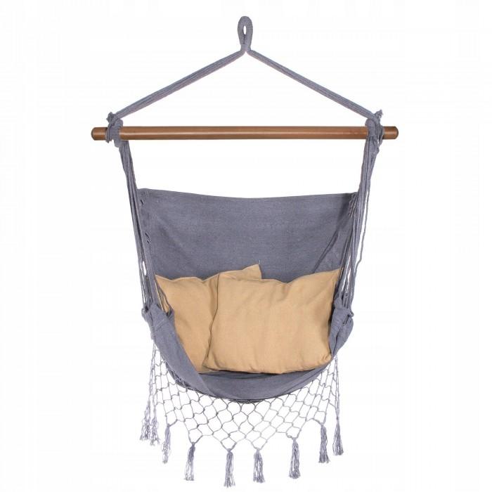 Крісло-гамак сидячий (бразильський) з подушками Springos 130 x 100 см HM021