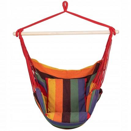 Крісло-гамак сидячий (бразильський) з подушками Springos 130 x 100 см HM047