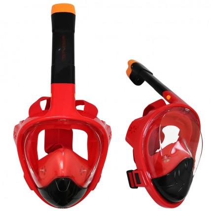 Маска для снорклінгу (плавання) SportVida SV-DN0021 Size S/M Black/Red