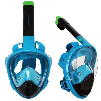 Маска для снорклінгу (плавання) SportVida SV-DN0022 Size L/XL Black/Blue