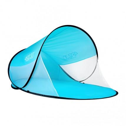 Пляжний тент 4FIZJO Pop Up 120 x 190 см 4FJ0223 Sky Blue/White