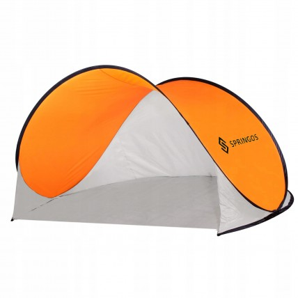 Пляжний тент Springos Pop Up 200 x 120 см PT004 Grey/Orange