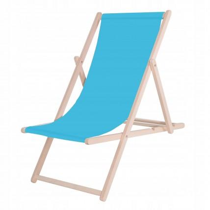 Шезлонг (кресло-лежак) деревянный для пляжа, террасы и сада Springos DC0001 BLUE