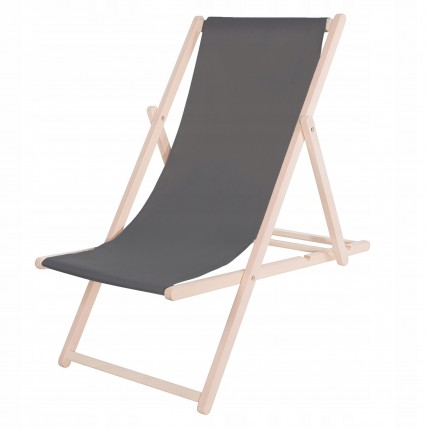 Шезлонг (кресло-лежак) деревянный для пляжа, террасы и сада Springos DC0001 GR