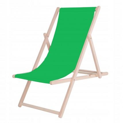 Шезлонг (кресло-лежак) деревянный для пляжа, террасы и сада Springos DC0001 GREEN