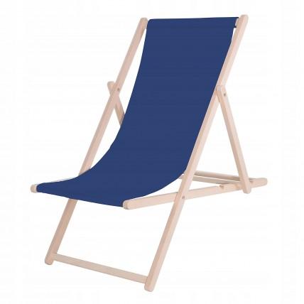 Шезлонг (кресло-лежак) деревянный для пляжа, террасы и сада Springos DC0001 NB