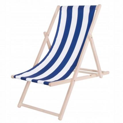 Шезлонг (кресло-лежак) деревянный для пляжа, террасы и сада Springos DC0001 WHBL