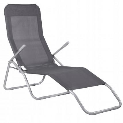 Шезлонг (лежак) для пляжа, террасы и сада Springos GC0016
