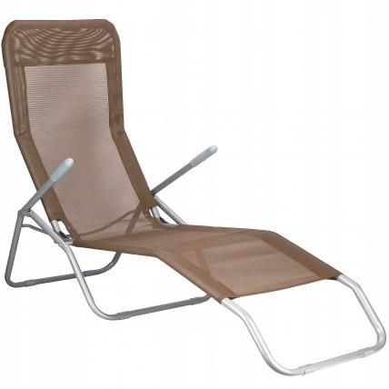Шезлонг (лежак) для пляжа, террасы и сада Springos GC0048