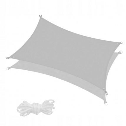 Тент-парус теневой для дома, сада и туризма Springos 3 x 2 м SN1048 Grey