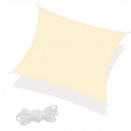 Тент-парус тіньовий для дому, саду та туризму Springos 3 x 3 м SN1028 Light Yellow