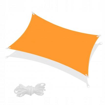 Тент-парус тіньовий для дому, саду та туризму Springos 4 x 2 м SN1039 Orange