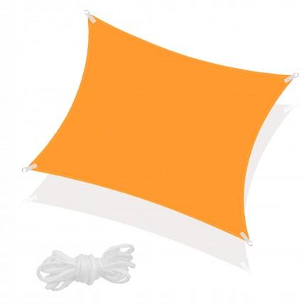 Тент-парус тіньовий для дому, саду та туризму Springos 5 x 5 м SN1023 Orange