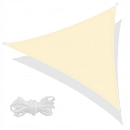 Тент-парус тіньовий для дому, саду та туризму Springos 5 x 5 x 5 м SN1013 Light Yellow