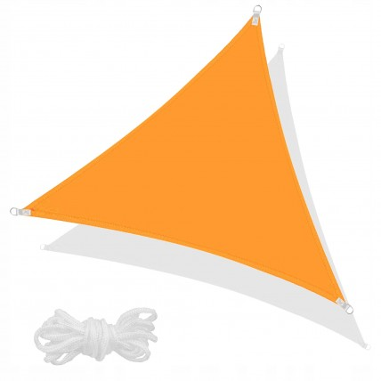 Тент-парус тіньовий для дому, саду та туризму Springos 5 x 5 x 5 м SN1015 Orange