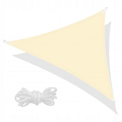 Тент-парус тіньовий для дому, саду та туризму Springos 7 x 5 x 5 м SN1010 Light Yellow