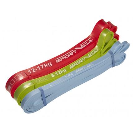 Еспандер-петля (резина для фітнесу і спорту) SportVida Power Band 3 шт 0-17 кг SV-HK0190-1