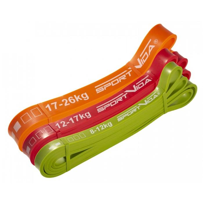 Еспандер-петля (резина для фітнесу і спорту) SportVida Power Band 3 шт 8-26 кг SV-HK0190-5