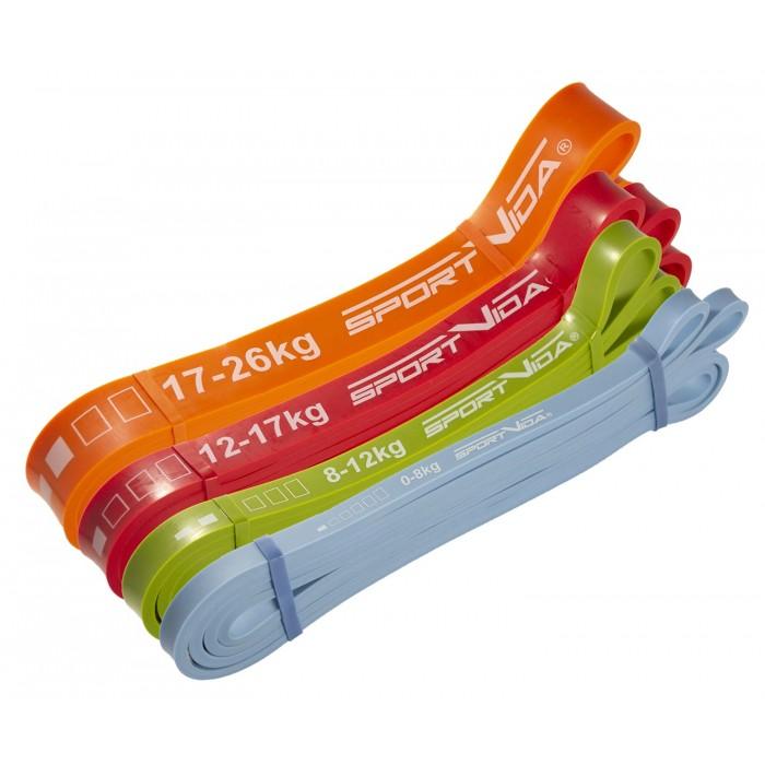 Еспандер-петля (резина для фітнесу і спорту) SportVida Power Band 4 шт 0-26 кг SV-HK0190-2