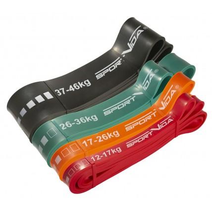 Еспандер-петля (резина для фітнесу і спорту) SportVida Power Band 4 шт 12-46 кг SV-HK0190-4