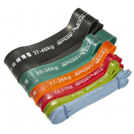 Еспандер-петля (резина для фітнесу і спорту) SportVida Power Band 6 шт 0-46 кг SV-HK0190-3