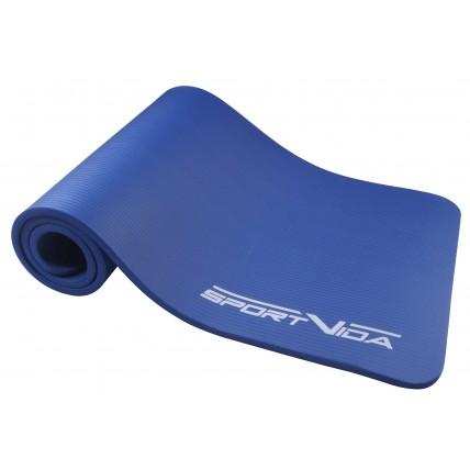 Коврик (мат) для йоги та фітнесу SportVida NBR 1.5 см SV-HK0075 Blue