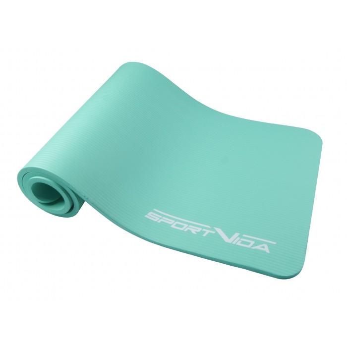 Коврик (мат) для йоги и фитнеса SportVida NBR 1 см SV-HK0067 Mint