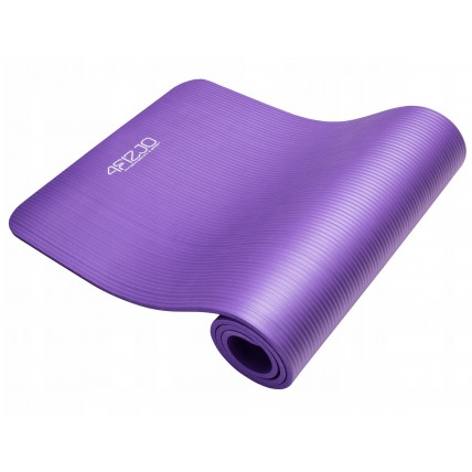 Коврик (мат) для йоги та фітнесу 4FIZJO NBR 1 см 4FJ0016 Violet