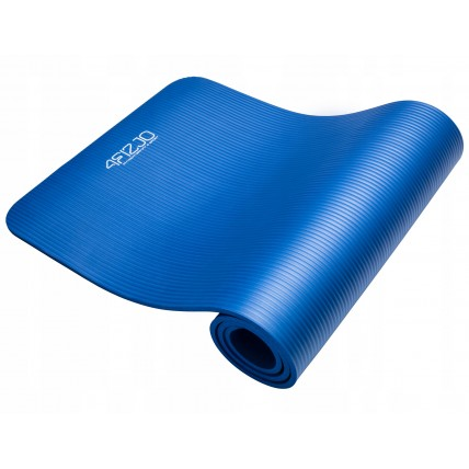 Коврик (мат) для йоги та фітнесу 4FIZJO NBR 1 см 4FJ0014 Blue