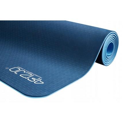 Коврик (мат) для йоги та фітнесу 4FIZJO TPE 6 мм 4FJ0033 Blue/Sky Blue