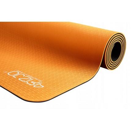 Коврик (мат) для йоги и фитнеса 4FIZJO TPE 6 мм 4FJ0034 Orange/Black