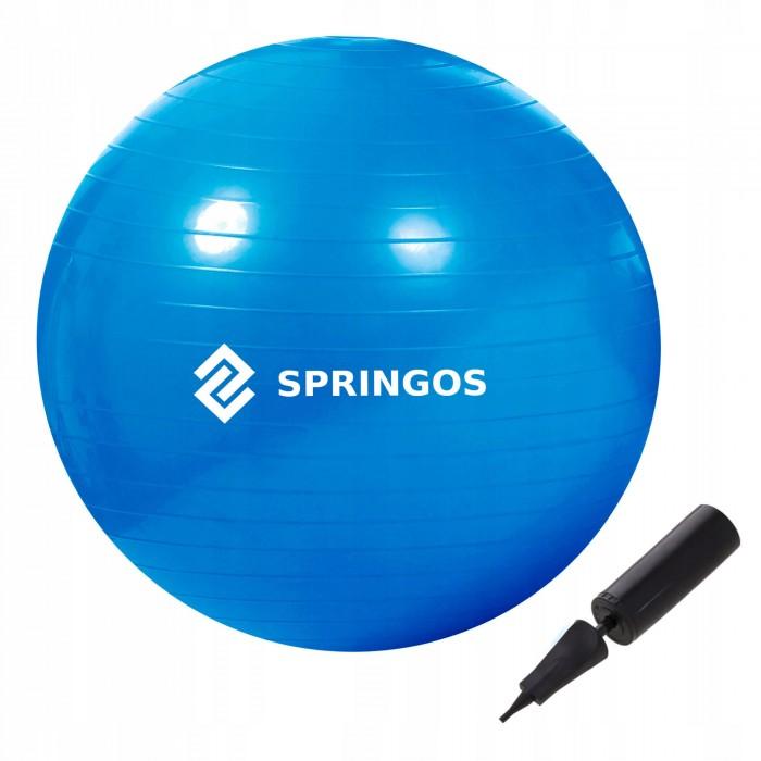 М'яч для фітнесу (фітбол) Springos 85 см Anti-Burst FB0009 Blue
