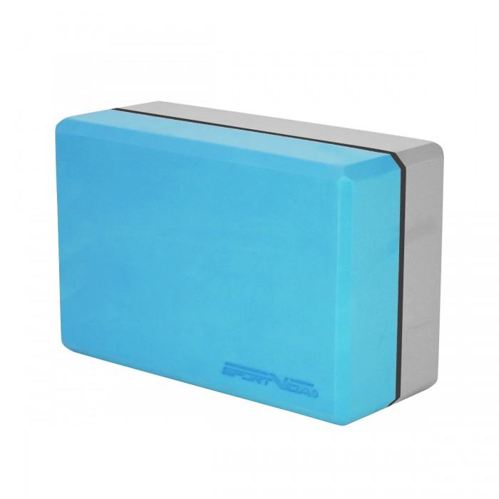 Блок для йоги двоколірний SportVida SV-HK0335 Blue/Grey