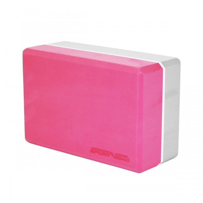 Блок для йоги двоколірний SportVida SV-HK0336 Pink/Grey