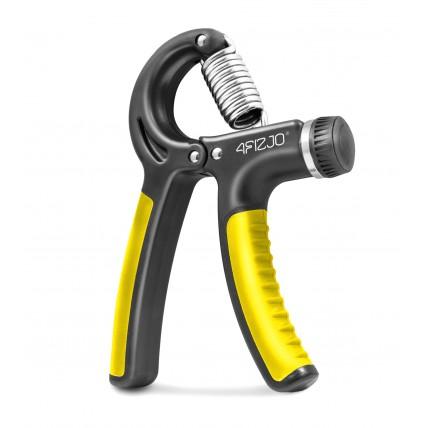 Еспандер кистьовий пружинний з регульованим навантаженням 4FIZJO 10-40 кг 4FJ0160 Black/Yellow