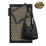 Коврик акупунктурный с подушкой 4FIZJO Eco Mat Аппликатор Кузнецова 68 x 42 см 4FJ0179 Black/Gold