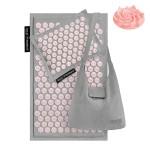 Коврик акупунктурный с подушкой 4FIZJO Eco Mat Аппликатор Кузнецова 68 x 42 см 4FJ0228 Grey/Pink