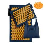 Коврик акупунктурный с подушкой 4FIZJO Eco Mat Аппликатор Кузнецова 68 x 42 см 4FJ0229 Navy Blue/Orange