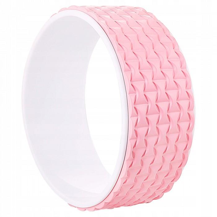 Колесо для йоги та фітнесу Springos Dharma YG0019 Pink/White