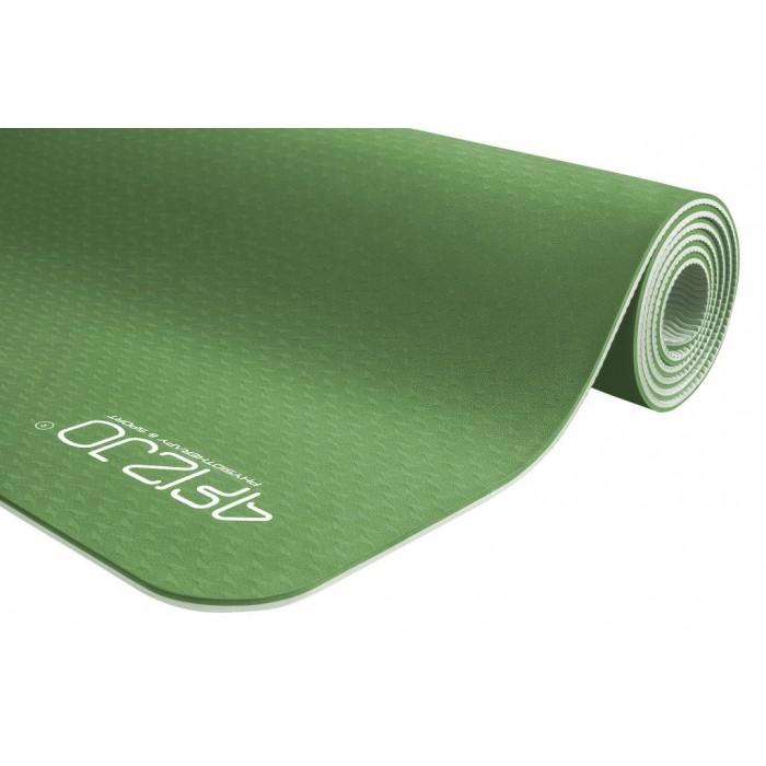 Коврик (мат) для йоги та фітнесу 4FIZJO TPE 6 мм 4FJ0142 Green/Grey