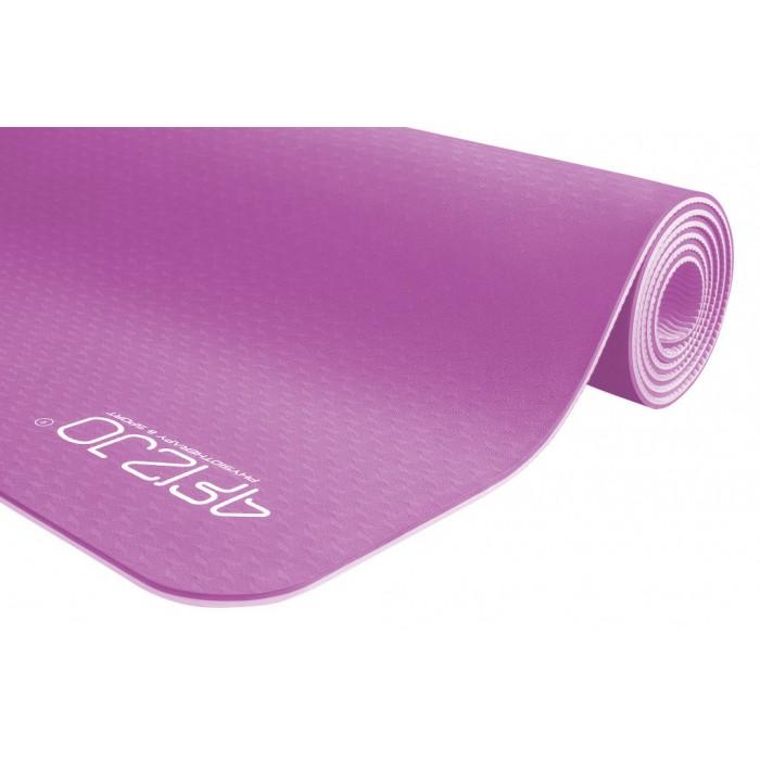 Коврик (мат) для йоги та фітнесу 4FIZJO TPE 6 мм 4FJ0143 Pink/Purple